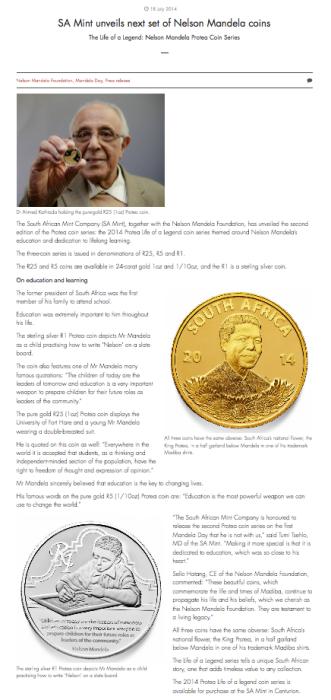 Nelson Mandela Coins